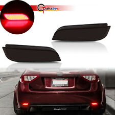 For Subaru Impreza WRX STi Smoked Lens Rear Reflectors Foglight Tail Brake Lamps