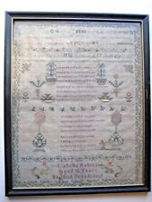Needlework Sampler Isabella Robins Aged 12 Years Baptist Free School