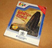 COMMODORE 64 C64 - SPIRIT OF THE STONES - VINTAGE BIG BOX COMPUTER GAME