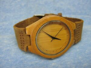Men's Wooden Watch w/ New Battery
