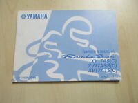 Yamaha XV17AS XV17ASS Roadstar Manual Manual Log Book 5VN-28199-1