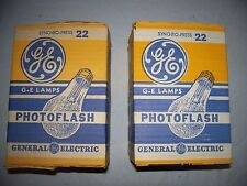 General Electric 22 Flashbulbs- 12 Bulbs   27,000 Lumens for brighter lighting