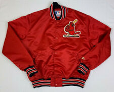 STARTER vintage 80s satin st louis cardinals dugout snap jacket sz xl unlined