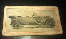 1924 ?  MINERVA   Motor Car  - Griffiths Sweets Australia Orig Trade Card RARE