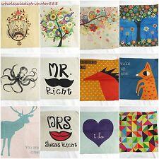 wholesale 10pcs  deer animal flower tree cushion cover cushion cover