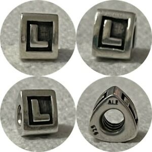 PANDORA 3 SIDED LETTER L CHARM REF 790323L 925 ALE DISCONTINUED