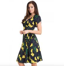 Voodoo Vixen Floral Calla Lily Summer Style Dress BNWT Size L