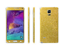 2 x Glitzerfolie Samsung Galaxy Note 4 Bling Skins Sticker FullBody Schutzfolie