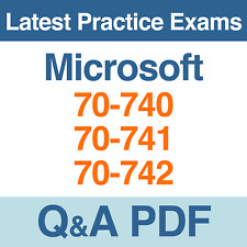Microsoft Windows Server 2016 Practice Tests 70-740, 70-741, 70-742 Q&A PDF