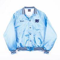 Vintage HILTON 1995 Made In USA Letterman Blue Varsity Jacket Men's Size Large