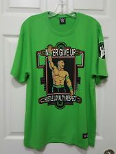 John Cena WWE Wrestling T-Shirt Respect Earn It Never Give Up XL