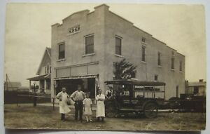 Delivery Truck Demuth Bros & Pope Grocery Old 1904-1918 RPPC Postcard; Gas Pump
