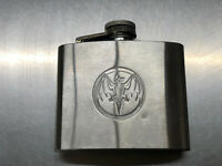 Bacardi Rum 5 oz Stainless Steel liquor Flask With Bat Logo