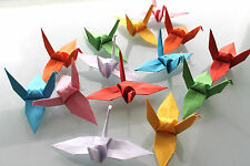 SALE !! 100 X HANDMADE ORIGAMI CRANES - CHOOSE YOUR COLOUR