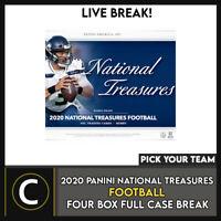 2020 PANINI NATIONAL TREASURES FOOTBALL 4 BOX CASE BREAK #F681 - PICK YOUR TEAM