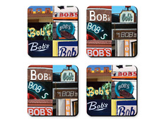 Personalized Coasters featuring the name BOND in photos of signs - Set of 4
