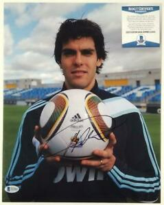 Ricardo Kaka signed 11x14 Photo Autograph Milan Madrid~ BAS COA