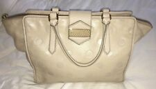 Marc by Marc Jacobs Flipping Dots Taupe Beige Lambskin Leather Large Satchel Bag