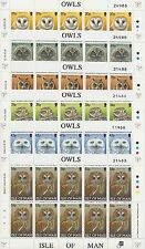 INSEL MAN - 1997 EULEN OWLS VÖGEL BIRDS 709-14 KLEINBOGEN **