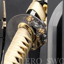 Fully Handmade Tricolor blade Japanese Katana Real Straight Hamon Samurai Sword