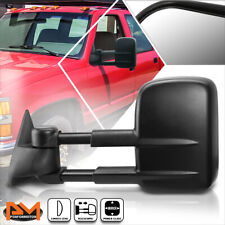 For 88-02 Chevy/GMC C/K 1500/2500/3500 Power Adjusting Black Towing Mirror Left