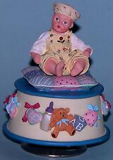 "Madame Alexander resin doll ""Yellow Rosebud"" #90610 music box rotates baby"