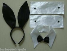 Playboy Bunny Costume 4 Piece Accessories Pack - Ears, Cuffs (2) & Bow Tie