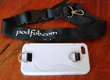 iPhone 5 Case and Neckstrap Lanyard for the iPhone 5 by  PODFOB white TPU