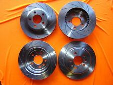 SLOTTED FULL VEHICLE SET Holden Commodore VT VU VY VX VZ Disc Brake Rotors NEW