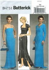 Butterick B4731 Misses/Misses' Petite Shrug and Dress Sz 6-8-10-12 UNCUT