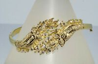 $31,900 6.74CT NATURAL ROUND & MARQUISE CUT DIAMOND CLUSTER BANGLE 18K GOLD