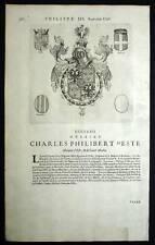 CHARLES PHILIBERT D'ESTE Heraldisme Blasons 1667