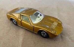 Matchbox Superfast Lamborghini Miura no33, 1968, Gold Cream variant, original