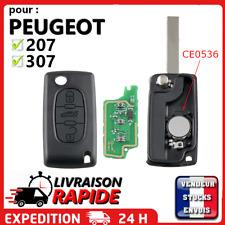 Clé vierge + électronique à programmer pour Peugeot 207 307 308 3 boutons coffre