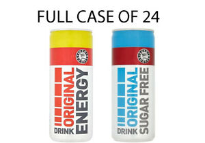 Euro Shopper Energy Drink ORIGINAL /DIET 250ml cans - Case of 24 cans