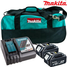 Makita 2 x BL1850 BATTERIA + Caricabatterie DC18RC + sacchetto LXT400 Makita DTD152Z, DTD154Z