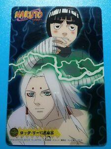 Naruto Plastic Semi Translucent Collectible Trading Card 52 Rock Lee Vs Kimimaro