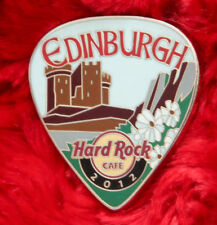 Hard Rock Cafe Pin EDINBURGH Postcard GUITAR PICK Series LE200 Facade Castle