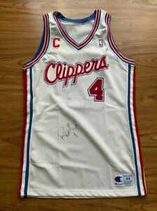 RON HARPER Champion Authentic Game worn Procut Jersey Vintage Clippers RARE