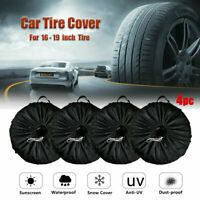 4 pcs Car Wheel Tire Cover Tyre Storage Bag Truck Trailer RV Waterproof 80x47cm