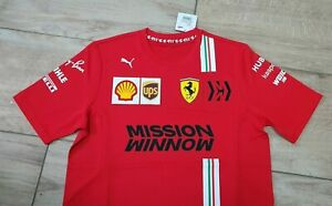 Scuderia Ferrari Mission Winnow F1 2020 PUMA team polo shirt size S