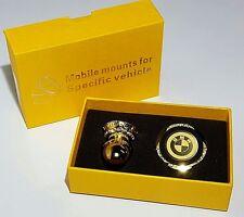 Universal 360 Magnetic Mobile Phone Car Dash Holder Mount Gold Crystal BMW