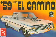 1970s AMT '59 Chevy El Camino model box replica magnet - new!
