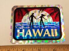 VTG 80's HAWAII ISLAND VENDING MACHINE PRISM SURFING SKATEBOARD DECK STICKER NOS