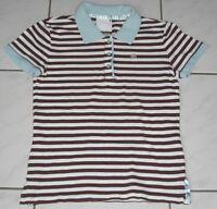 Polo T-Shirt  kurzarm braun gestreift  Gr. S