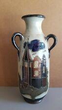 "Roger Guerin (German/Belgium) Oringinal Pottery 3-Handle 20"" Floor Vase Signed"