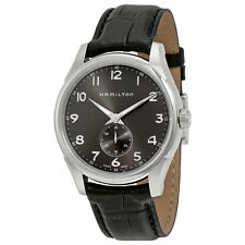 Hamilton Jazzmaster Grey Dial Black Leather Mens Watch H38411783