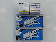 RAPID HD31 PLIER STAPLERS,2EA, & 2BXS STAPLES,PACKAGING,HAND STAPLER, RAPID 31,
