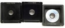 Toyo View Recessed Lens Board & 2 Std. Copal #0 #1 - 45D 45E 45F 45G 45GII 45GX