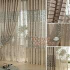 Leaf Tulle Door Window Curtain Drape Panel Sheer Scarf Valances for Room Home #P